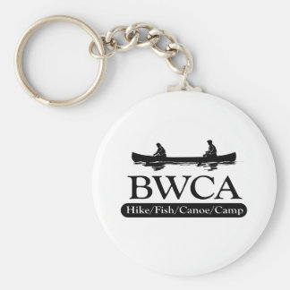 BWCA / Hike Fish Canoe Camp Basic Round Button Key Ring