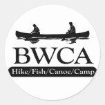 BWCA / Hike Fish Canoe Camp Round Stickers