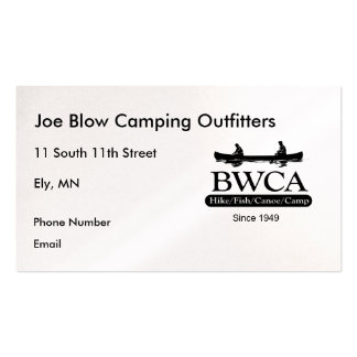 BWCA PACK OF STANDARD BUSINESS CARDS