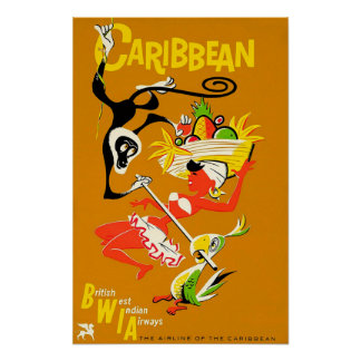 BWIA – Caribbean Poster