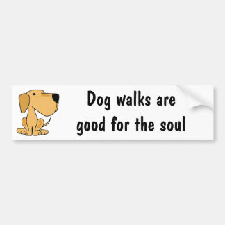 BX- Awesome Yellow Labrador Puppy Dog Bumper Sticker
