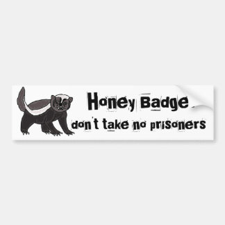 BX- Funny Honey Bader Bumper Sticker