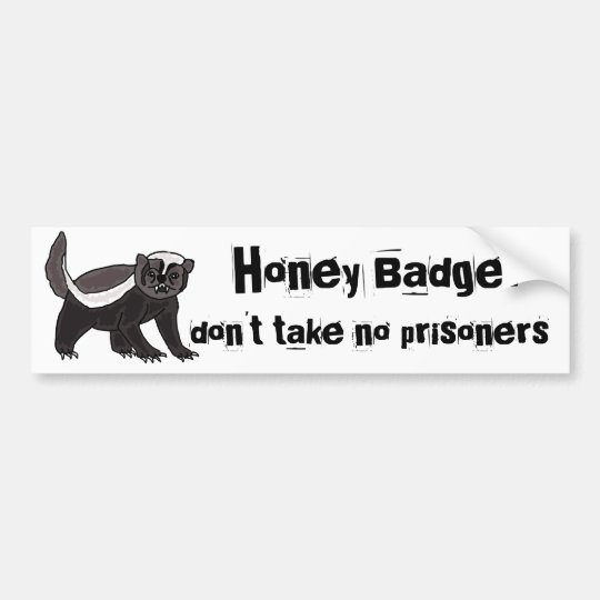 BX- Funny Honey Bader Bumper Sticker