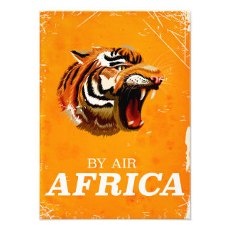 By Air Africa travel poster Photo