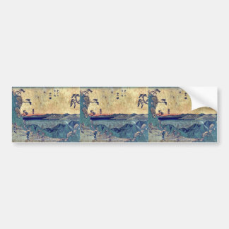 by Ando Hiroshige Ukiyo-e Bumper Stickers