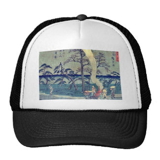 by Ando, Hiroshige Ukiyo-e. Trucker Hat