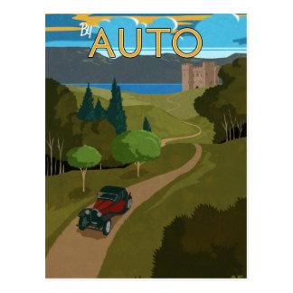 By Auto Postcard