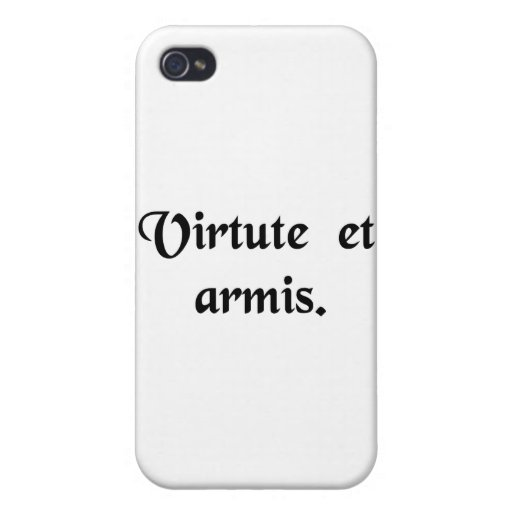 By courage and by arms. case for iPhone 4