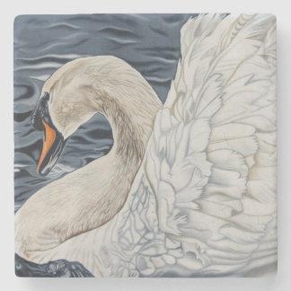 """By Day a Swan"" stone swan coaster. Stone Coaster"