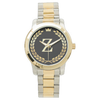 by Eddie Monte  Gold Plated & plated steel watch