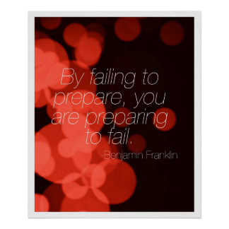 By Failing to Prepare... Poster