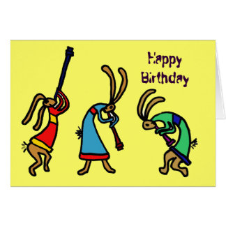 BY- Funny Birthday Dancing Bunny Card
