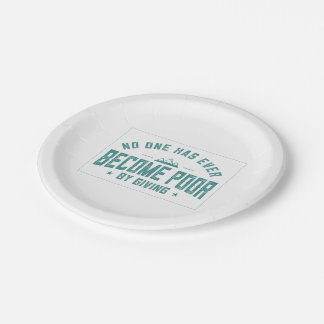 By Giving 7 Inch Paper Plate