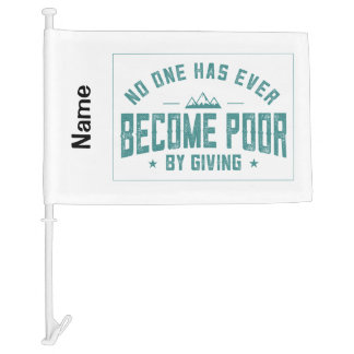 By Giving Car Flag