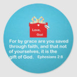 By Grace are You Saved Round Sticker