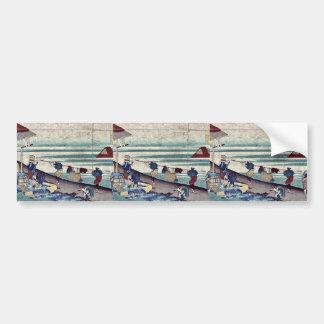 by Katsushika, Hokusai Ukiyo-e. Bumper Stickers