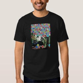 By Lori Everett_Day Of The Dead, Black Cat, Tree Tshirts