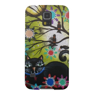 By Lori Everett_ Day Of The Dead,Mexican,Black Cat Galaxy S5 Case