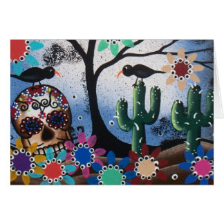 By Lori Everett_ Day Of The Dead,Mexican,Skull,DOD Card
