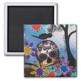 By Lori Everett_ Day Of The Dead,Mexican,Skull,DOD Magnet