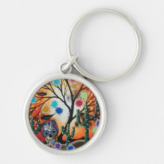 By Lori Everett_ Day Of The Dead,Skull,Mexican,DOD Key Ring