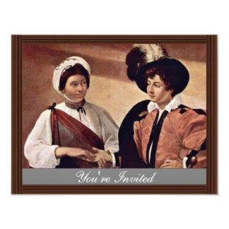 By Michelangelo Merisi Da Caravaggio 11 Cm X 14 Cm Invitation Card