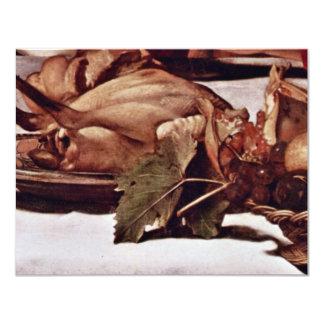 """By Michelangelo Merisi Da Caravaggio 4.25"""" X 5.5"""" Invitation Card"""