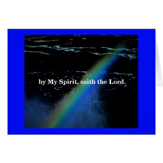 BY MY SPIRIT/GO IN PEACE CARD