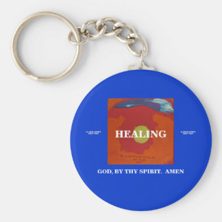 BY MY SPIRIT - HEALING BASIC ROUND BUTTON KEY RING