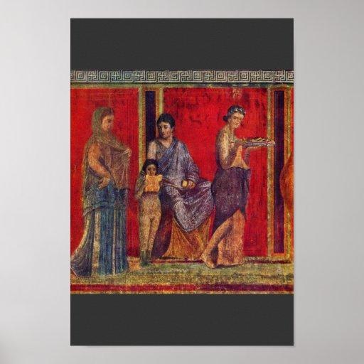 By Pompejanischer Maler Um 60 V. Chr. Poster