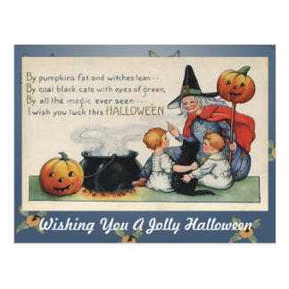 By Pumpkin Fat Vintage Halloween Art Post Card