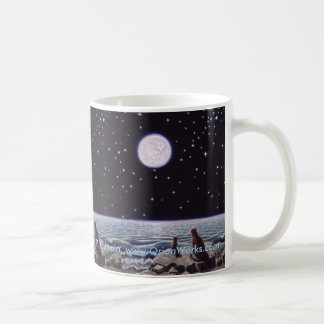 By the Light of the Cat Fish Moon, By the Light... Basic White Mug