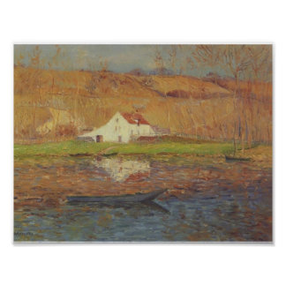 By the Loing River by Gustave Loiseau Poster