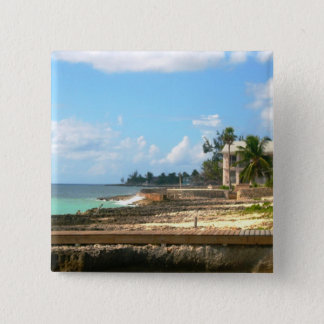 By The Ocean 15 Cm Square Badge