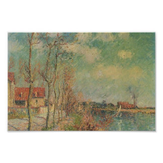 By the Oise River by Gustave Loiseau Poster