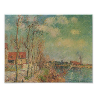 By the Oise River by Gustave Loiseau Print