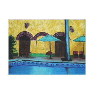 By The Pool Gallery Wrapped Canvas