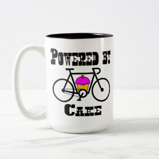 By the power of cake and caffeine! Two-Tone coffee mug