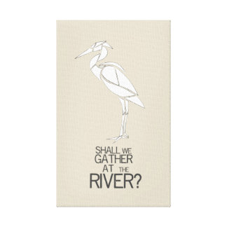 By the River - Hymn Quote Canvas Print