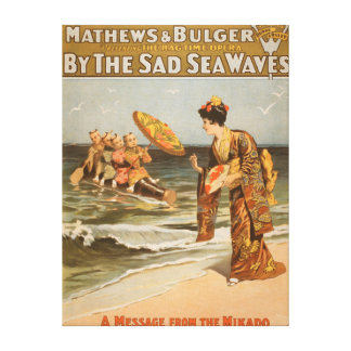 "By the Sad Sea Waves ""Message from Mikado"" Canvas Print"
