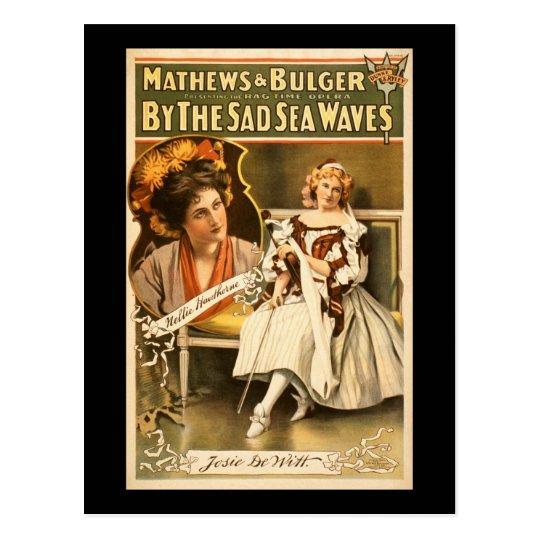 By the sad sea waves postcard