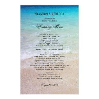 By the Sea Beach Wedding Menu 14 Cm X 21.5 Cm Flyer