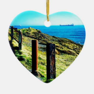 By the Sea Ceramic Heart Decoration