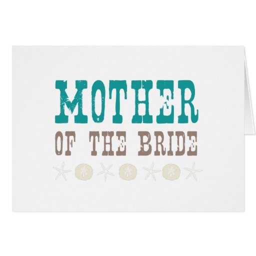 By the Sea Mother of the Bride Greeting Cards