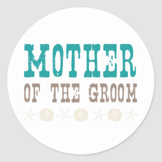 By the Sea Mother of the Groom Round Sticker