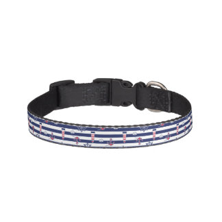 By The Sea Pattern Pet Collar