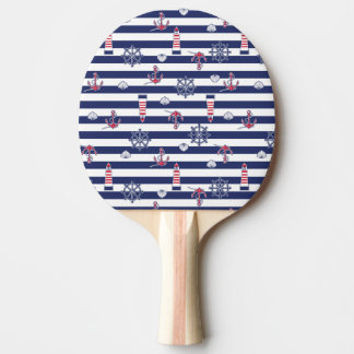 By The Sea Pattern Ping Pong Paddle