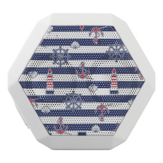 By The Sea Pattern White Bluetooth Speaker