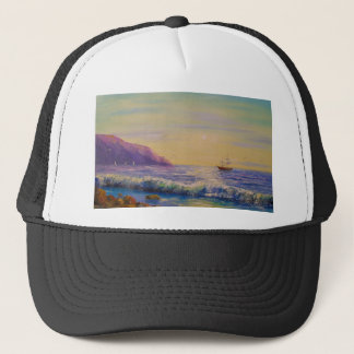By the sea trucker hat