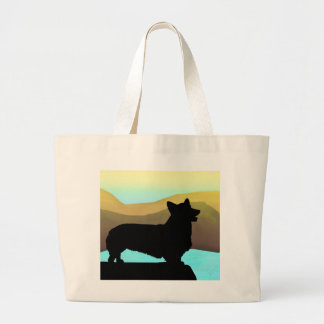 By The Sea Welsh Corgi Large Tote Bag